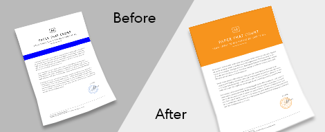 Design Edits Service 1 Before and After Text color baground Edits Gotopress - Canada Printshop