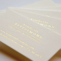 What is Letterpress Business cards and Process 4 Foil Stamp img 3 Gotopress - Canada Printshop