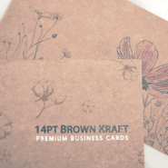 Custom Printed Hang Tags 3 14pt Brown Kraft Business Cards gallery Gotopress - Canada Printshop