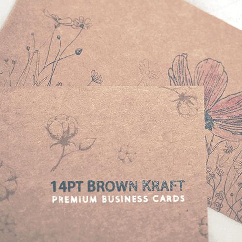 14pt Brown Kraft Business Cards 2 14pt Brown Kraft Business Cards gallery Gotopress - Canada Printshop