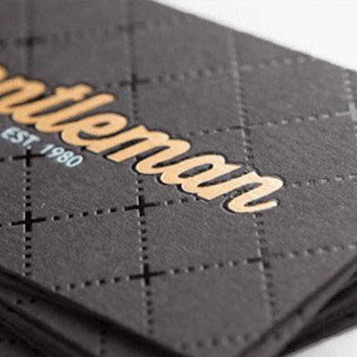 Metallic letterpress business cards images card design and card metallic letterpress business cards choice image card design and 24pt natural black metallic ink letterpress business reheart Choice Image