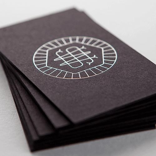 Metallic letterpress business cards images card design and card metallic letterpress business cards choice image card design and 48pt natural black metallic ink letterpress business reheart Choice Image