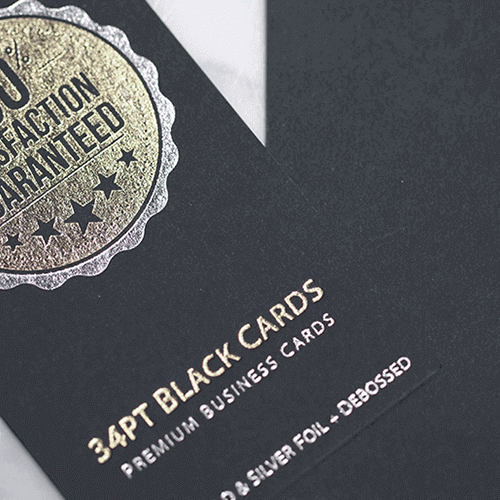 34pt Black Premium Business cards 2 34pt Black Premium Business Cards gallery Gotopress - Canada Printshop