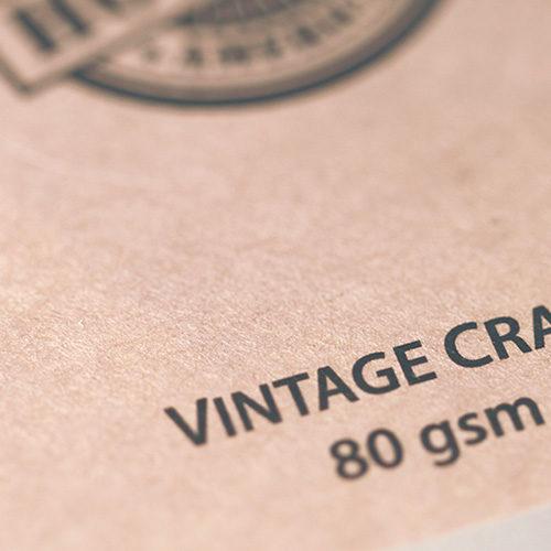 Brown Kraft Labels 3 Vintage Kraft Paper Stickers close up gallery1 Gotopress - Canada Printshop