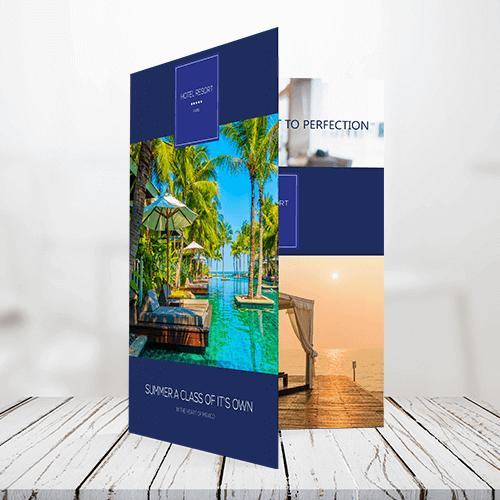 120lb text half fold brochure
