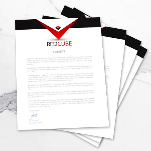 80lb - Text letterhead 2 8.5x11 80lb Letterhead1.1 Gotopress - Canada Printshop