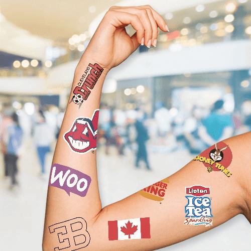 "1.5""x2"" Temporary Tattoos 1 Custom Temporary Tattoos Gotopress - Canada Printshop"