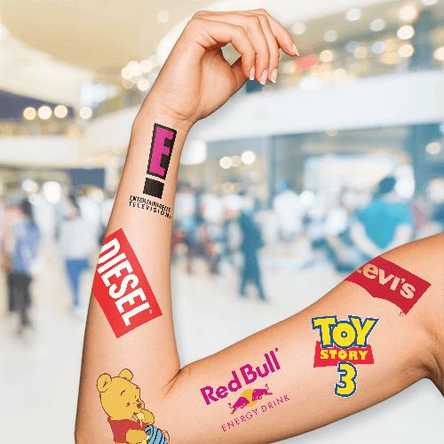 "1.5""x2.5"" Temporary Tattoos 1 Custom Temporary Tattoos Gotopress - Canada Printshop"