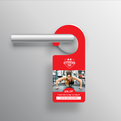 120lb Door Hangers Gloss/Statin Text 3 Door hangers3 Gotopress - Canada Printshop
