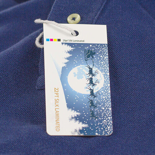 22pt Silk Laminated Hang Tags 2 Hang Tag 22pt Silk Laminated Gotopress - Canada Printshop