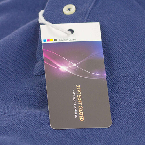 32pt Soft Touch Luxury Hang Tags 2 Hang Tag 32pt Soft coated Gotopress - Canada Printshop