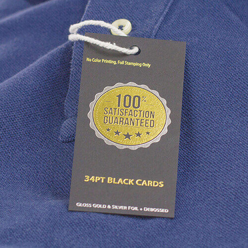 34pt Black Premium Hang Tags 2 Hang Tag 34pt Black stock Gotopress - Canada Printshop