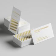 Business cards 2 24pt Uncoated Gold Business Cards Gotopress Gotopress - Canada Printshop