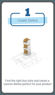 Genius Custom Printed Packaging and Boxes 6 Create Dieline 1.0step Gotopress - Canada Printshop